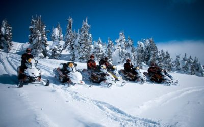 Снегоходное сафари по лесной трассе и озерам Карелии, 4 часа