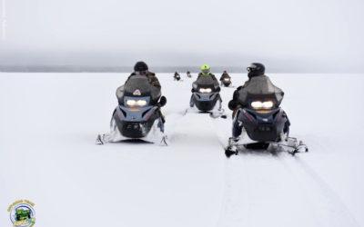 Путешествие на снегоходах по старинным карельским деревням