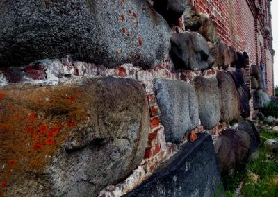 Стена келейного корпуса на о.Муксалма