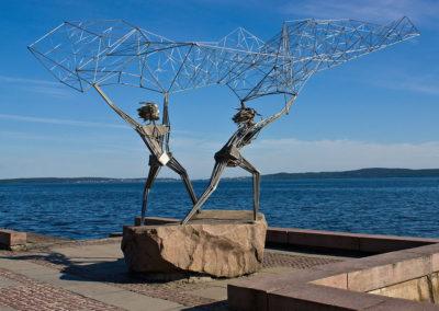 """Скульптура """"Рыбаки"""", Набережная Петрозаводска"""